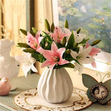 Artificial 3-head Real Touch Lilly Flower - 11 pieces