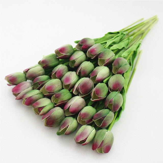 Artificial Mini Real touch Tulip Flower - 31 pieces