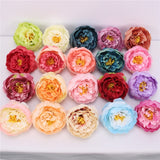 Artificial Silk Peony Rose Flower Heads - 30 pieces