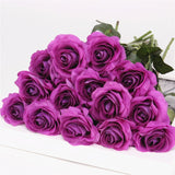 Artificial Silk Real Touch Roses - 15 pieces