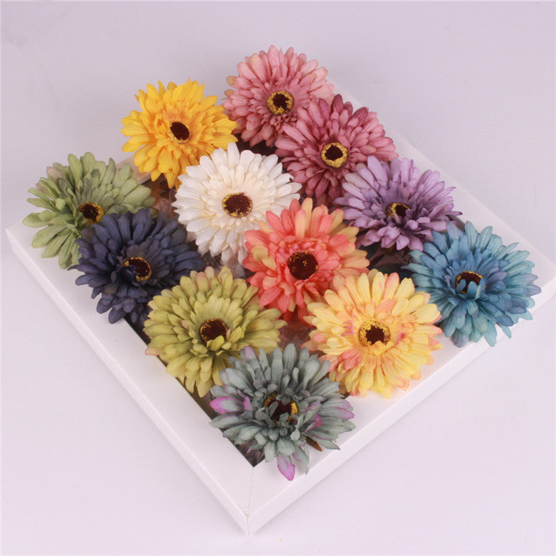 Artificial Silk Gerbera Daisy Flower Heads - 11 pieces