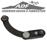 Replace the non-adjustable rear upper control arm with this adjustable arm to dial in ±2.0° of rear camber on the Dodge Caliber / Jeep Compass and Patriot. This remove and replace arm includes an OE style xAxis™ ball joint and bonded rubber bushing to match chassis design parameters and OE ride quality.