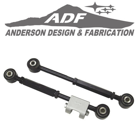 This set of 2 adjustable lower control arms will provide up to ±1.5° of additional camber and toe adjustment for all 1993 - 07 Imprezas, STis and WRXs as well as Saab 9-2Xs. Specially designed for the performance enthusiast, these arms can be used on lowered or stock ride height vehicles.