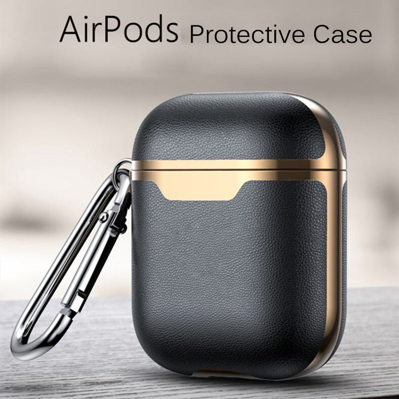 Electronicaa- Luxury Premium Leather AirBuds and AirBuds Pro Case