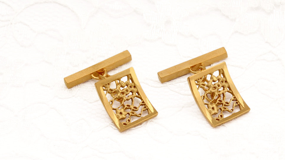 Lace Rectangle Cufflinks