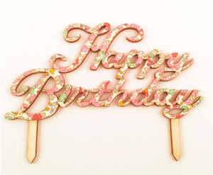 Betsy Ann Liberty of London Happy Birthday Cake Topper