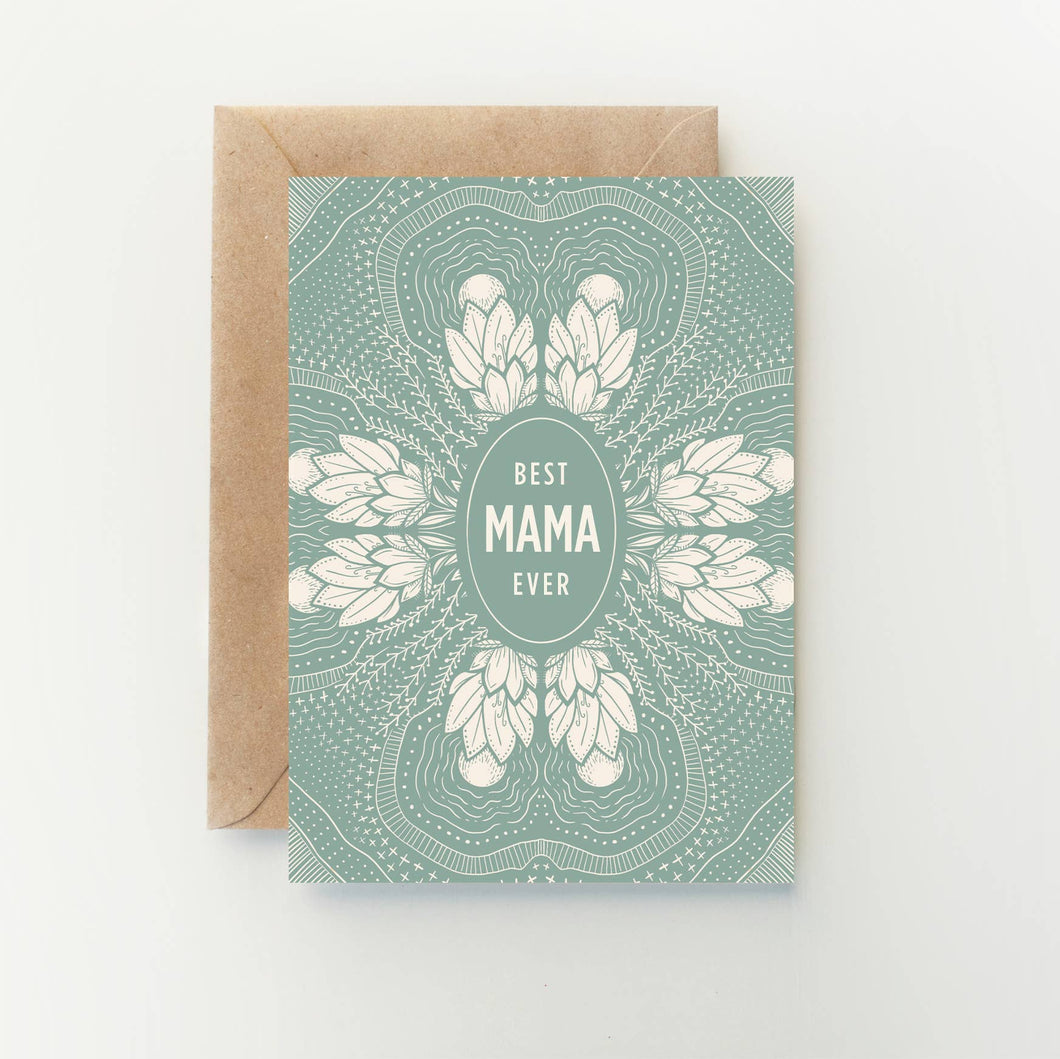 Best Mama Ever - Greeting Card
