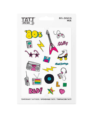 80s disco temporary tattoos