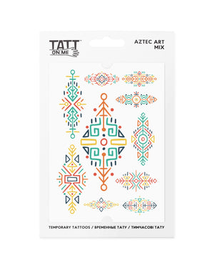 Aztek pattern temporary tattoos