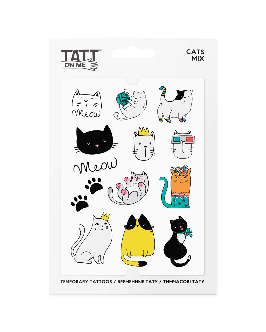 Cats temporary tattoos