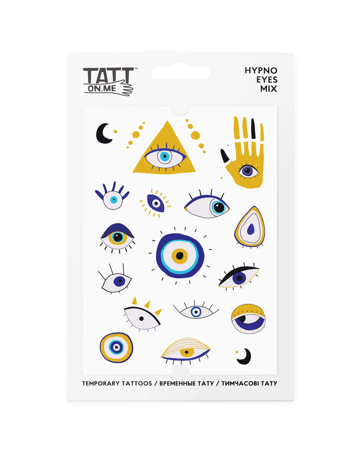 Hypno eyes temporary tattoos