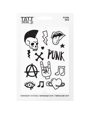 Punk  rock temporary tattoos TATTonme Punk mix