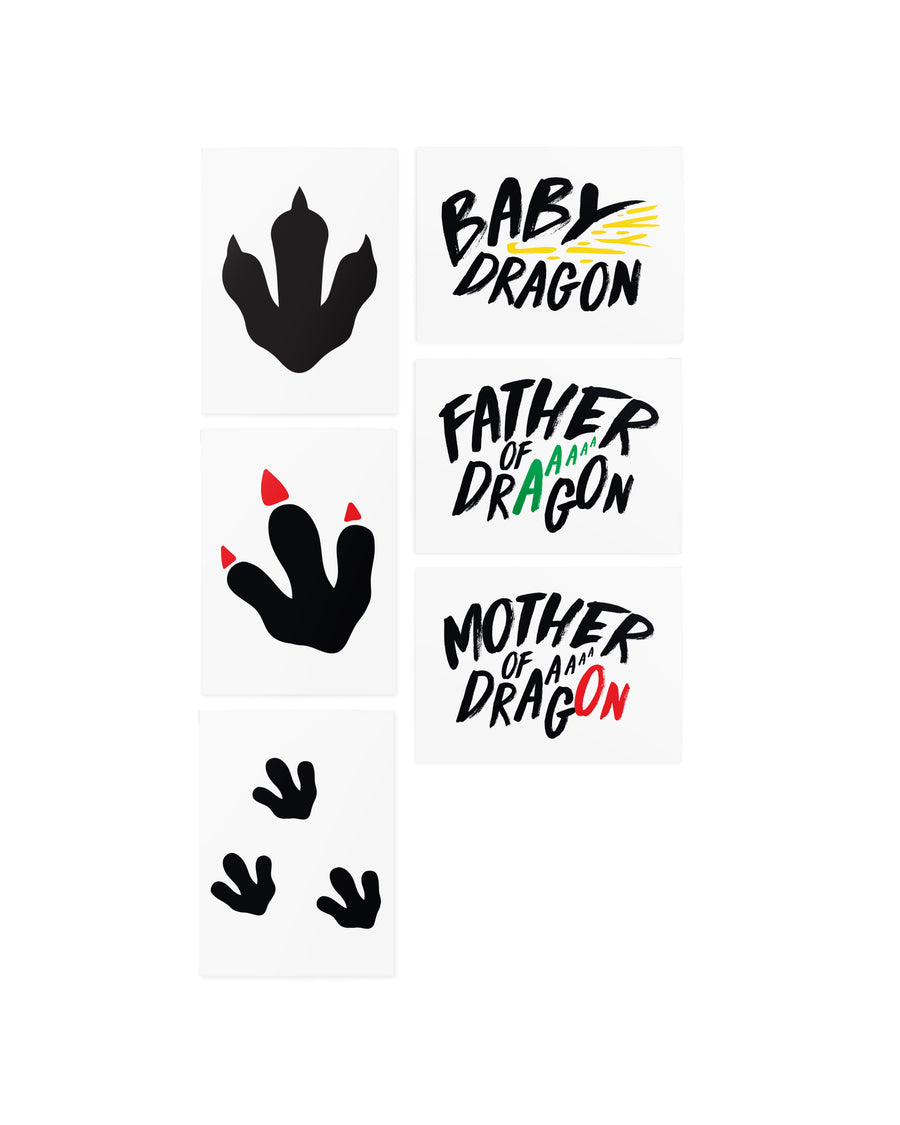 Dragon family tattoos for photoshoot