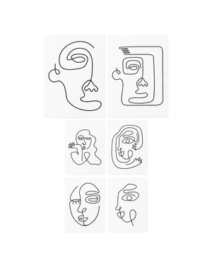 Arts Picasso temporary tattoos TATTonme Picasso set