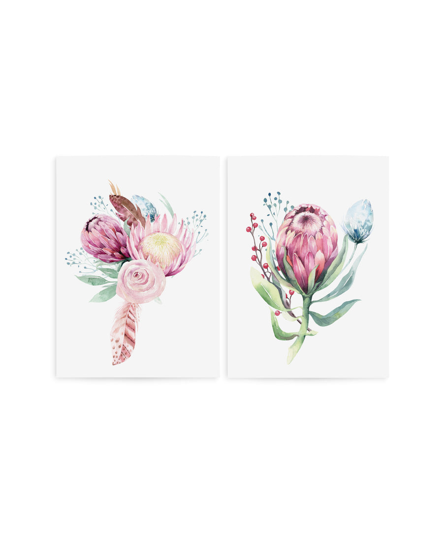 Protea flowers temporary tattoos TATTonme Protea set