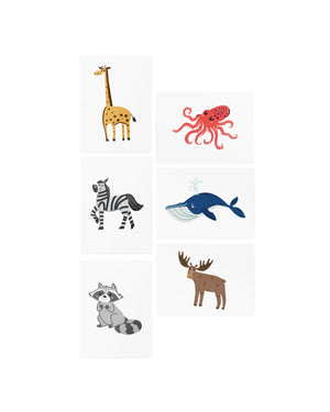 AR animal temporary tattoos for kids