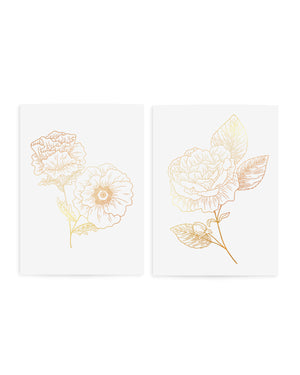 Temporary gold flowers tattoos TATTONME