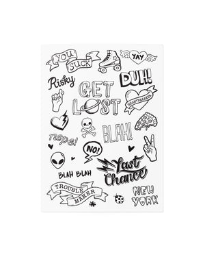 Cool phrases temporary tattoos