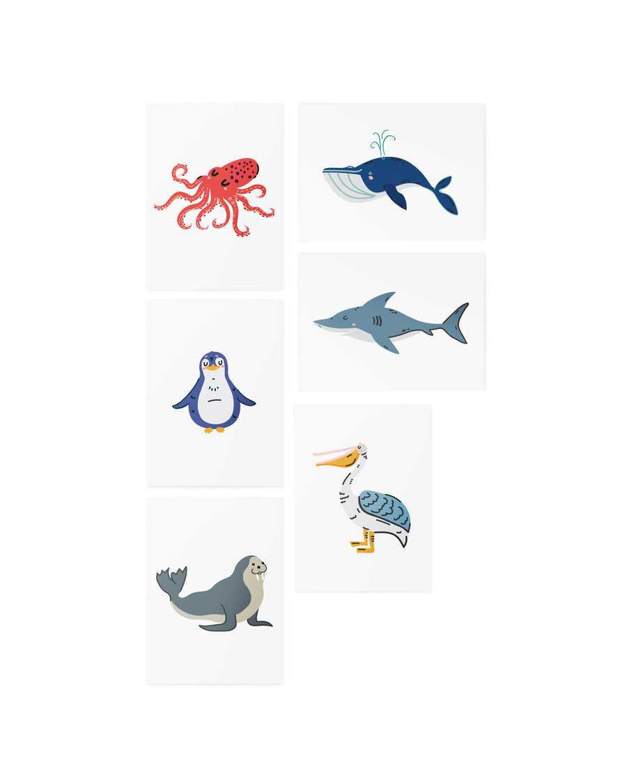 AR Ocean animals set