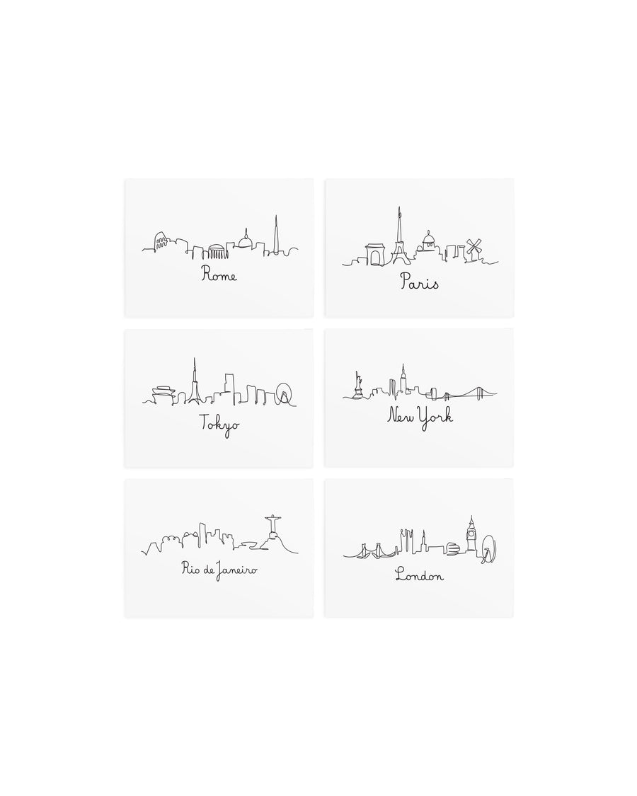 Capitals cities temporary tattoos