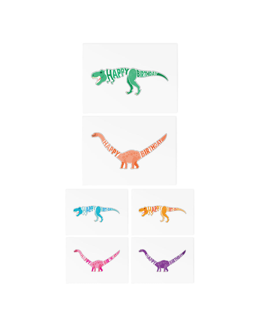 Birthday dinos temporary tattoos