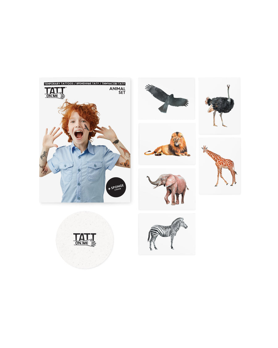 Animals temporary tattoos for kids
