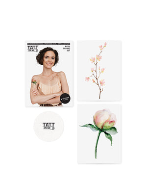 Roses floral temporary tattoos TATTonme Rose spring set