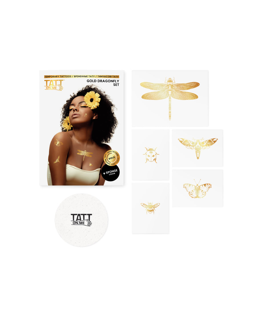 Gold Dragonfly set