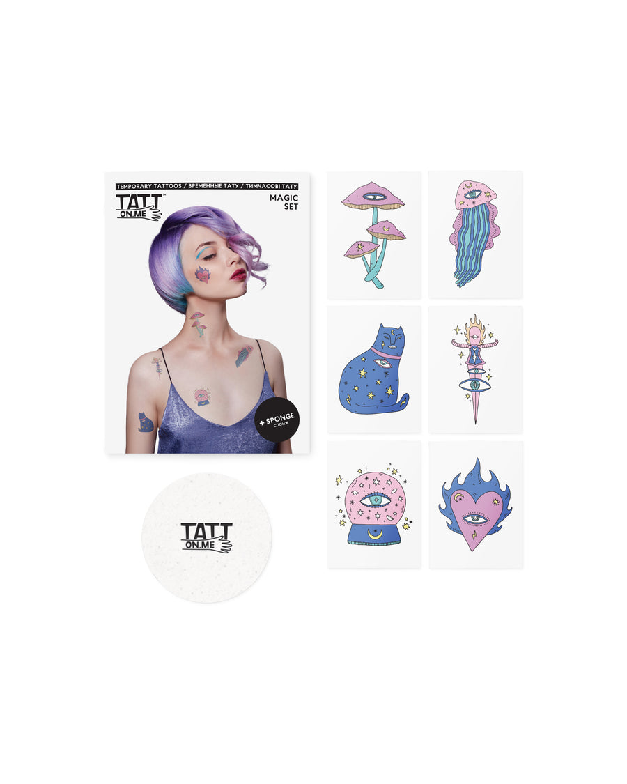 Magic witch temporary tattoos TATTonme Magic set