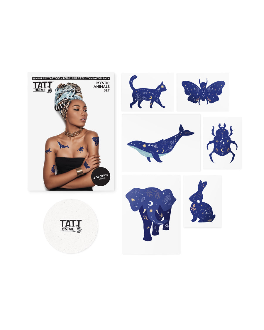 Mystic animals temporary tattoos TATTonme Mystic animals set