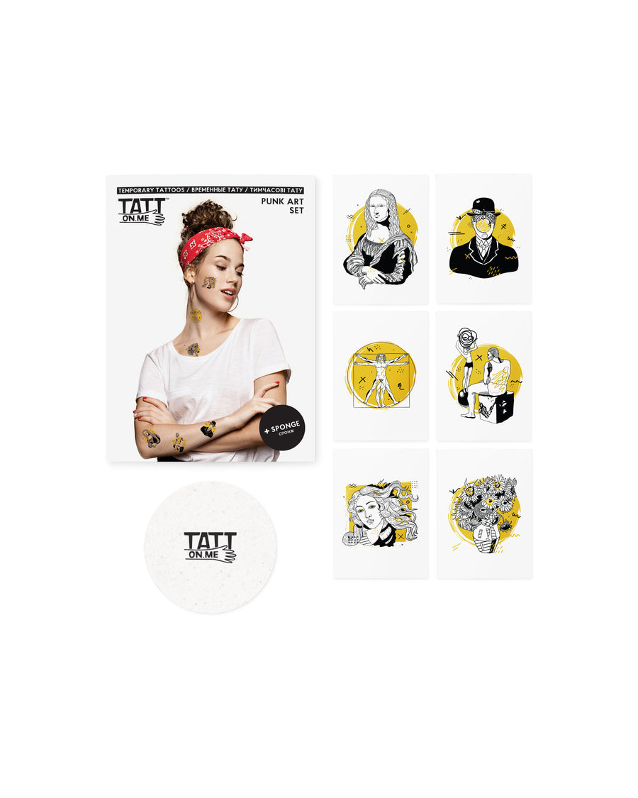 Punk Art temporary tattoos TATTonme Punk Art set
