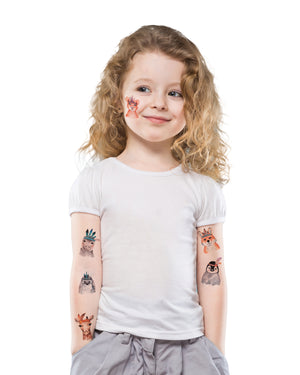 Kids animals temporary tattoos TATTonme Wild set