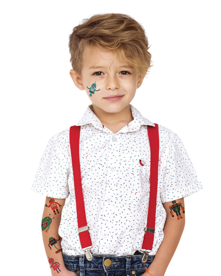 Robots kids toys temporary tattoos TATTonme Robot set