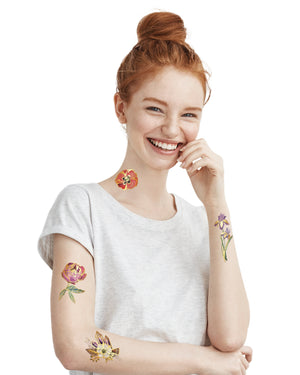 Temporary gold flower tattoos TATTONME