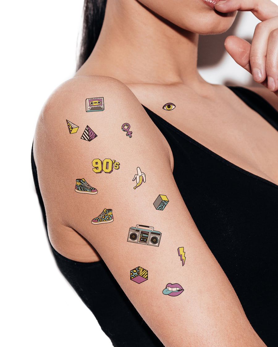 90s temporary tattoos