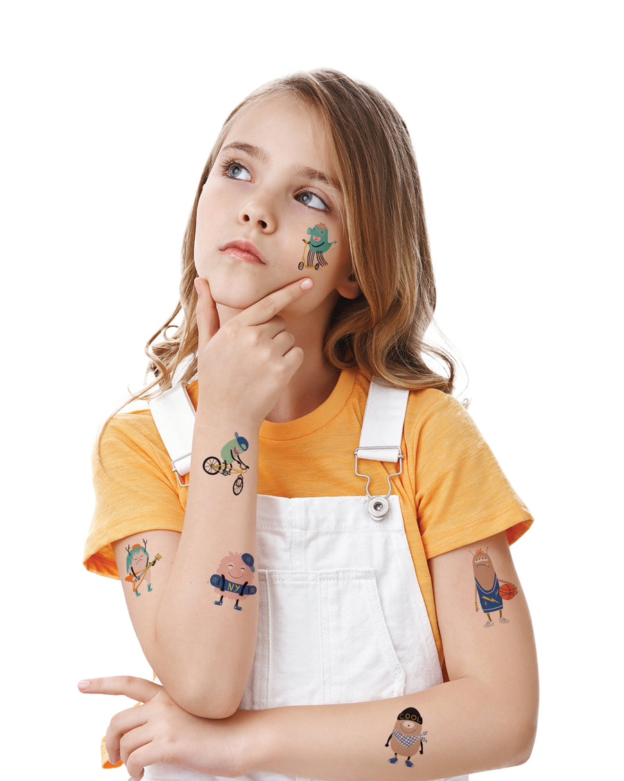 Monsters kids temporary tattoos TATTonme Monsters set