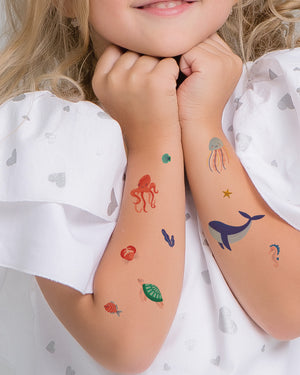 Ocean fish kids temporary tattoos TATTonme Ocean mix