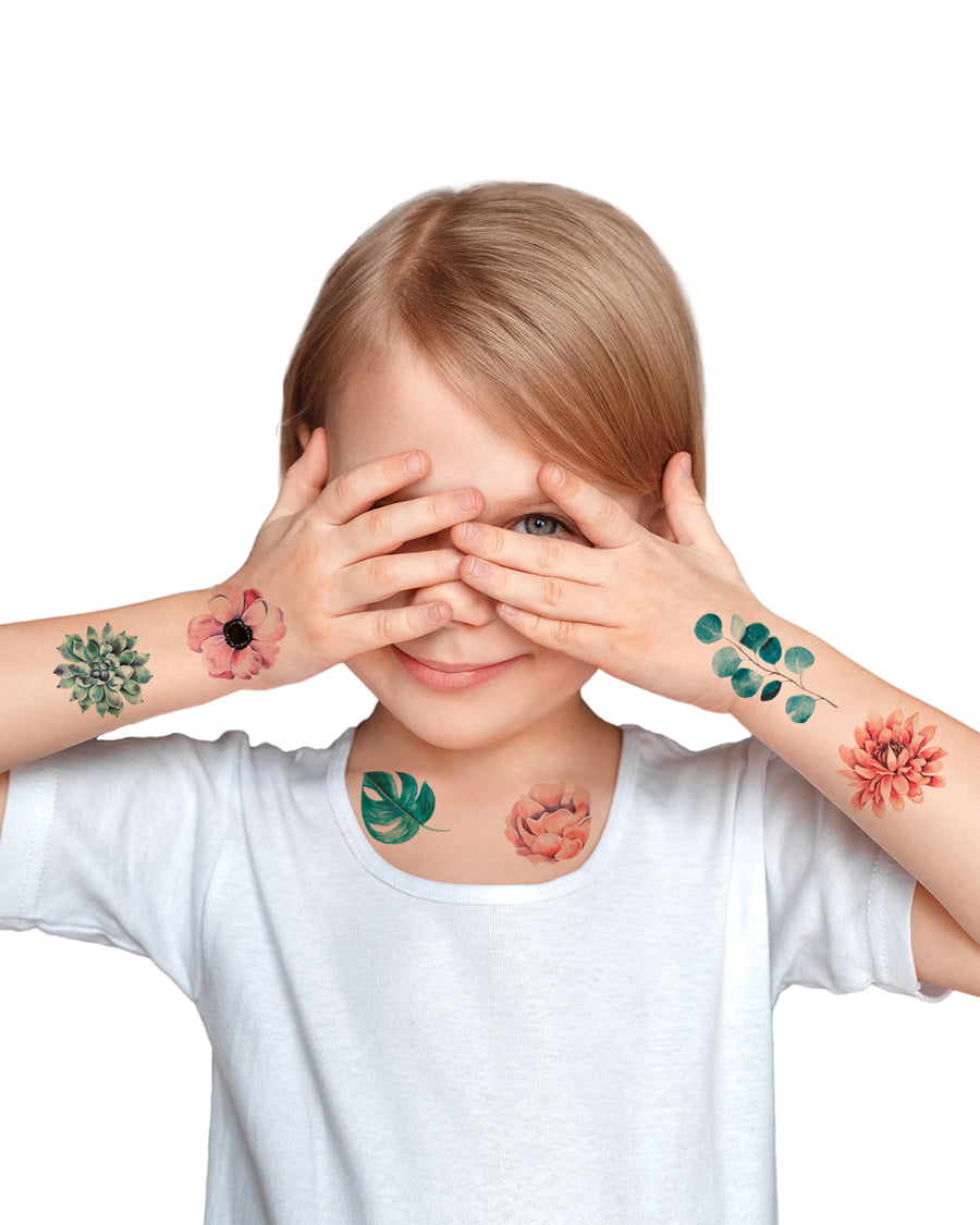 Flowers temporary tattoos for girls