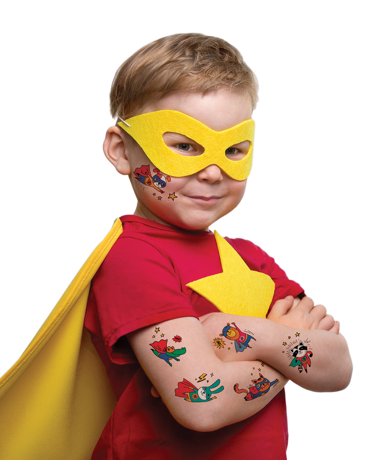 Superheros kids temporary tattoos TATTonme Superhero set