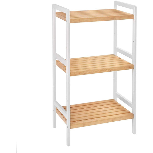 Multifunctional Layer 3 Bamboo Storage rack - Living Room, Kitchen, Bedroom or Hal - Shoe - kitchen rack - Storage rack - Dim. 45 x 31.5 x 80 cm