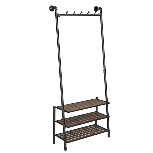 Nancy's Industrial clothes hanger - Coat Rack - Shoe - Standing Coat rack - Coat Hooks - 73 x 29.5 x 177 cm