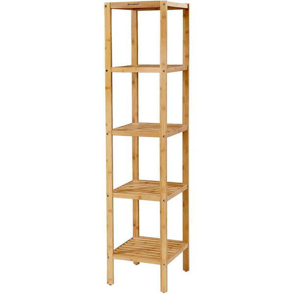 Nancy's Bamboo Bathroom Rack - Storage Rack With 5 Layers - Bathroom Shelf