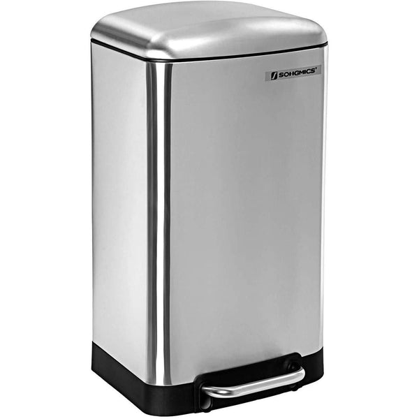 Nancy's Trash 30L - Stainless Steel Pedal Bin - Bin - Trash Silver