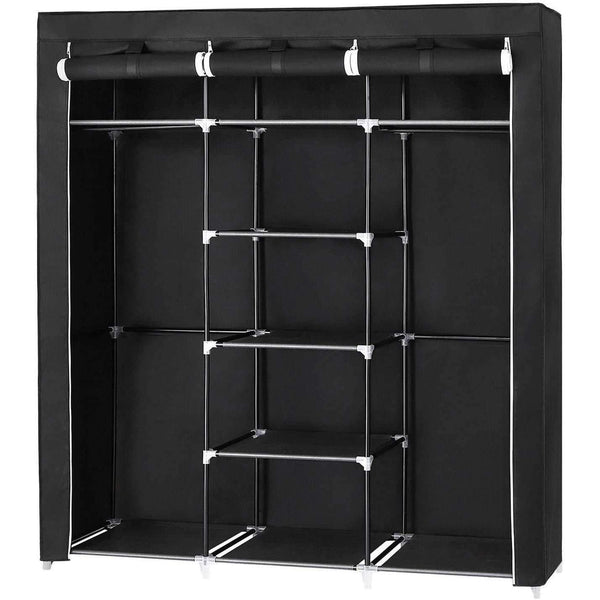 Nancy's - XXL Canvas Wardrobe - Wardrobe - Cabinet - Foldable Wardrobe Closet