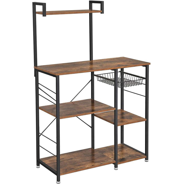Nancy's Industrial kitchen rack - Kitchen unit - kitchen cabinets - Organizer - Single rack with metal basket - Spice for pots and pans - 90 x 40 x 132 cm