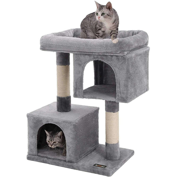 Nancy's Light Gray Cat Tree - Playhouse for Cats - Klimboom 84CM