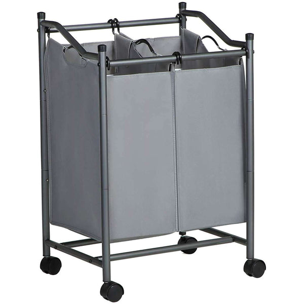 Nancy's Laundry Basket on Wheels 2 X 45L - Wassorteerder with two compartments - Waskar