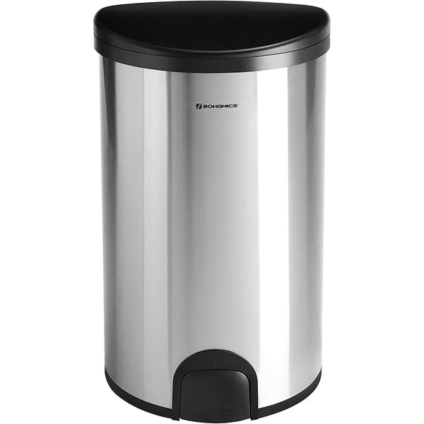 Metal Nancy's Trash - Simple by touch, closes automatically after 5 seconds - Waste bin - Recycle Bin 50 Liter - Pedal bin - Odor-resistant