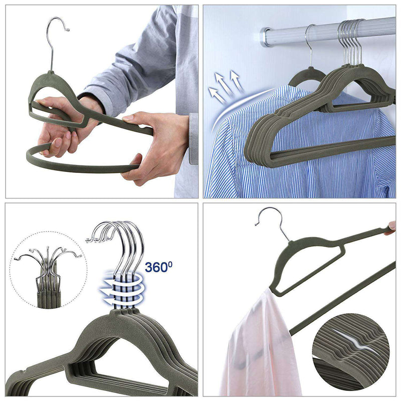 Nancy's hangers - 100 Pieces - Anti slip - Metal Swivel Hook - Black