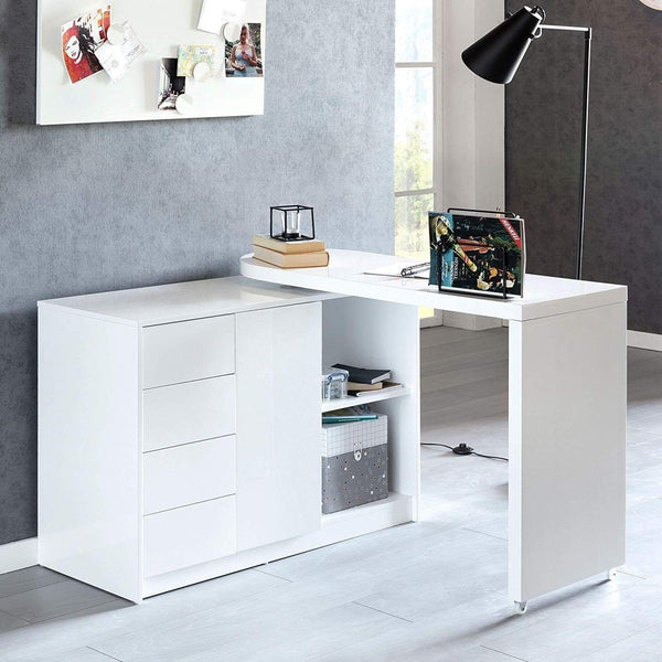 Nancy's Office swivel - Computer table - white - 166 x 42 x 77 cm